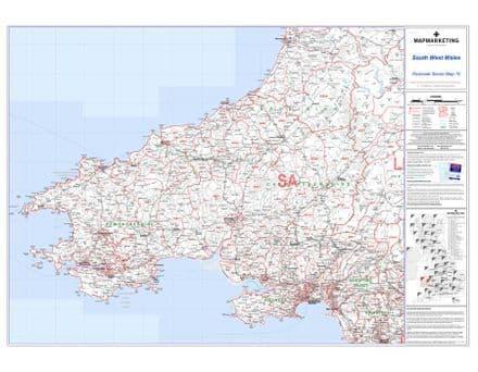 Postcode Sector Map 10 South West Wales