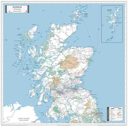 Scotland Planning - Wall Map