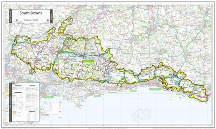 South Downs National Park - Wall Map
