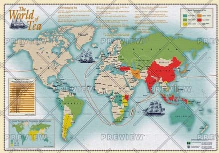 The World of Tea by Oxford Cartographers