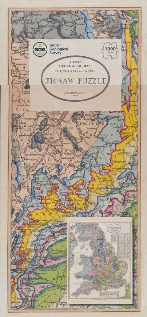 William Smith's Geological Map 1,000 Piece Jigsaw & Map