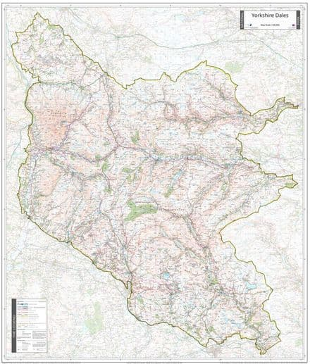 Yorkshire Dales National Park - Wall Map