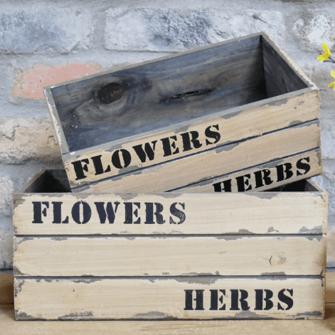 """Flowers & Herbs"" Crates"