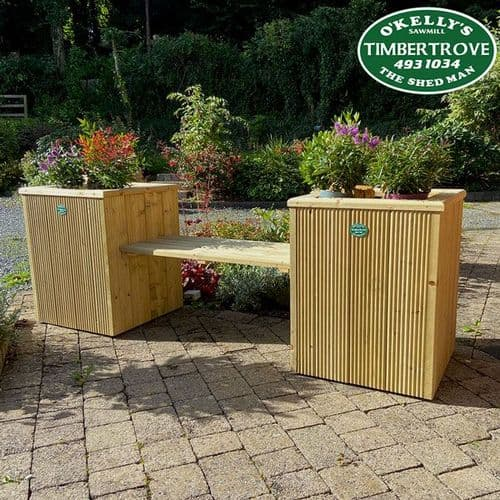 Decking Planter Bench