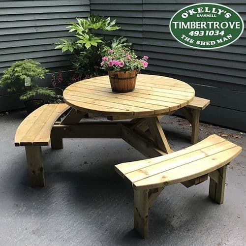 Six Seater Round Picnic Table
