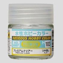 Mr Aqueous Hobby Color - Premium Clear Flat