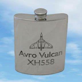 AVRO Vulcan XH558 Pewter Hip Flask