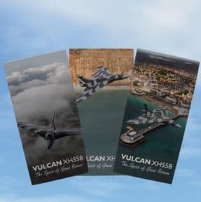Folding Magnetic Bookmark - Set of 3 various Vulcan XH558 images