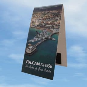 Folding Magnetic Bookmark - Vulcan XH558 Over Worthing Pier in 2015