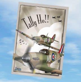 Greetings Cards - Tally Ho! Hurricane & Spitfire