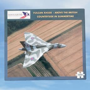 Jigsaw - Vulcan XH558 Above the British Countryside in Summertime - 1000 piece