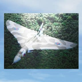 LIMITED EDITION Vulcan XH558 Anodised Aluminium Wall Art - The Art of Camouflage