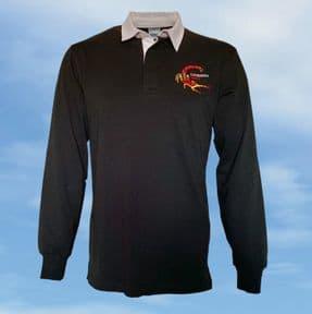 Rugby Shirt - Black - WK163 Scorpion
