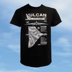 T Shirt - Black - Vulcan Blueprint