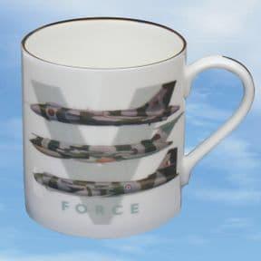 V-Force - Bone China Mug with Camouflaged Aircraft Profiles