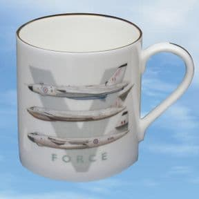 V-Force - Bone China Mug with White Aircraft Profiles