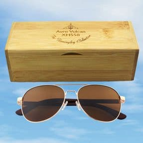 Vulcan XH558 Aviator Sunglasses - available with brown or blue lens
