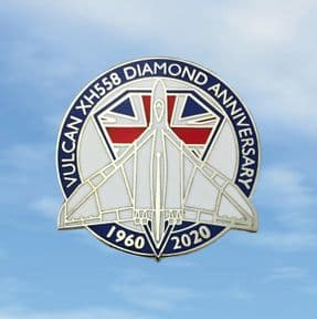 Vulcan XH558 Diamond Anniversary Pin Badge