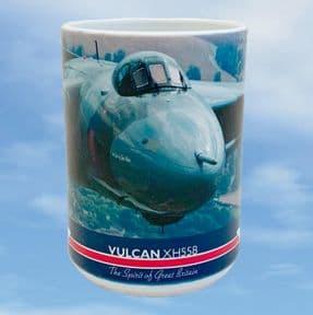 Vulcan XH558 Large Mug - Above the British countryside Laurens van de Craats
