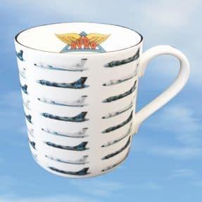 XH558 - Bone China Mug with Multiple Profiles