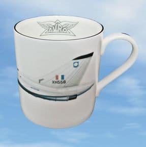 XH558 - Bone China Mug with White XH558 Profile